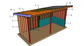 8×20 Run in Shed Roof Plans