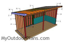 Building a 8x20 run in shed