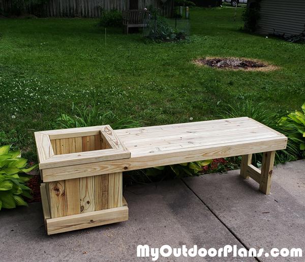 DIY 2x4 Garden Bench with Planter