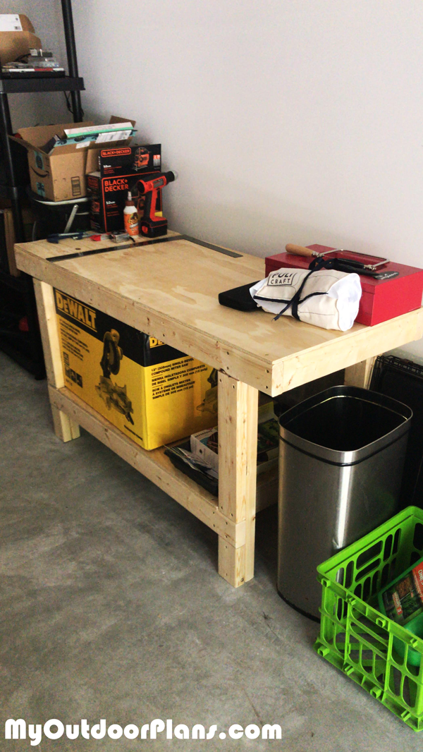 DIY 2x4 Simple Workbench Plans