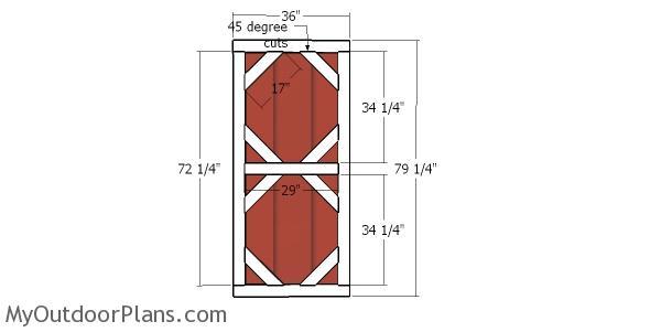 Door Plans - 6x8 shed