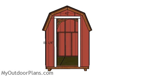 Door jambs - 6x8 shed