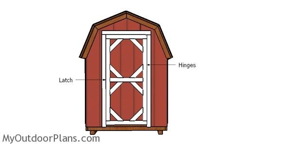 6x8 Gambrel Shed Door Plans