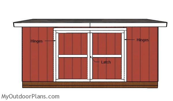Fitting the double doors - 5x16 Shed