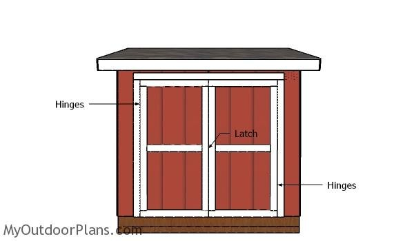 5x8 Shed Doors Plans