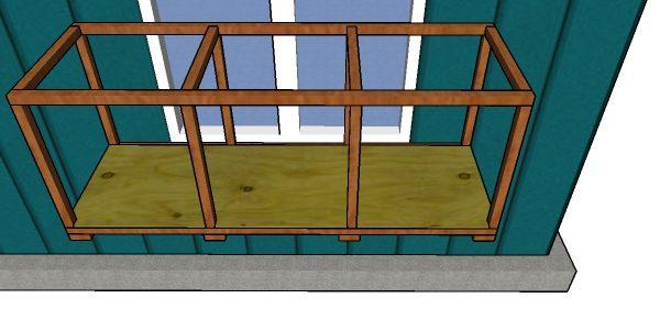 Fitting the floor - window catio