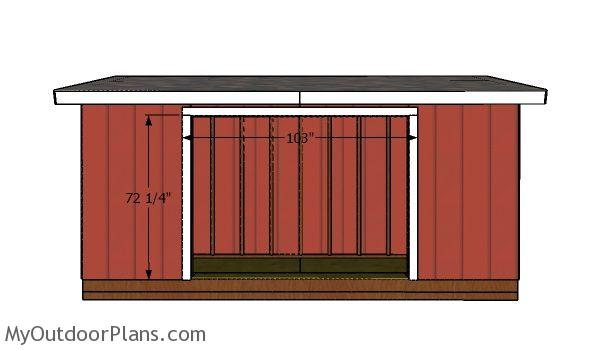 Fitting the jambs - 5x16 shed