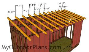 Fitting the rafters - 5x16 shed
