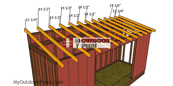 Fitting-the-rafters-to-the-5-ft-wide-lean-to-shed