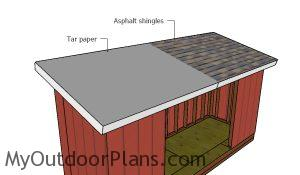 Fitting the roofing - 5x16 shed