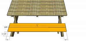 Fitting the seat slats - picnic table plans