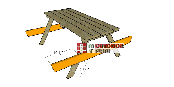 Fitting-the-seat-support-picnic-table
