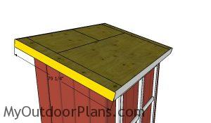 Fitting the side roof trims - 5x8 shed