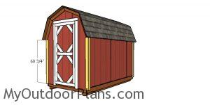 Fitting the trims - 6x10 shed