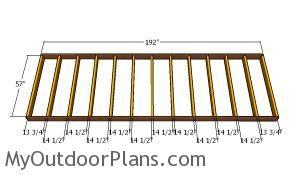 Floor frame - 5x16 Shed