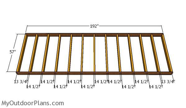 Floor frame - 5x16 Shed