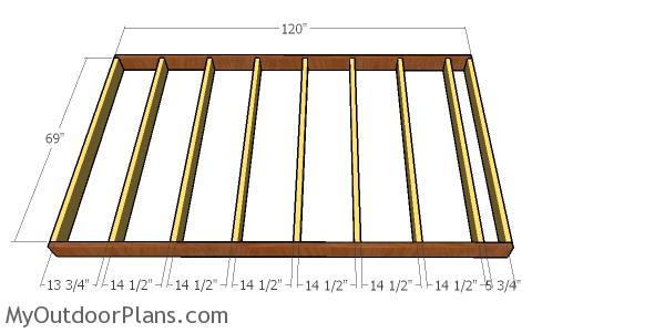 Floor frame - 6x10 barn shed