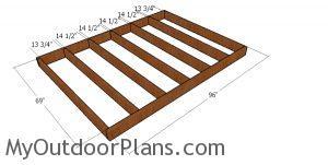 Floor frame - 6x8 gambrel shed