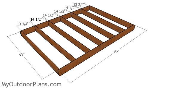 Floor frame - 6x8 gambrel shed