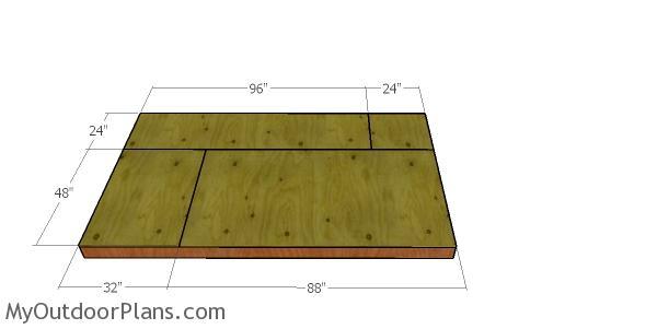 Floor sheets - 6x10 barn shed