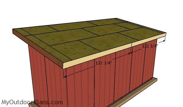 Front and back trims - 8x20 Shed