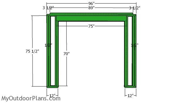 Front wall frame - 5x8 shed