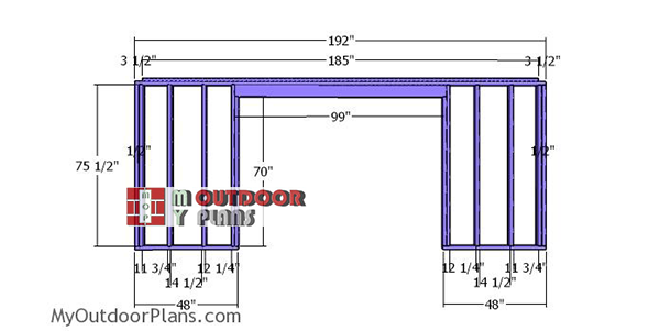 Front-wall-frame-5xx16-storage-shed