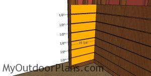 Front wall kickboards - 10x20 run in shed
