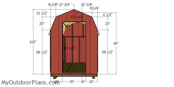 Front wall panels - 6x8 shed