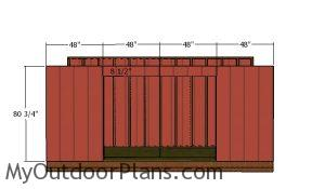 Front wall siding panels - 5x16 shed