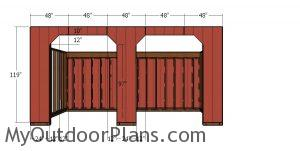 Front wall siding sheets - 10x20 run in shed