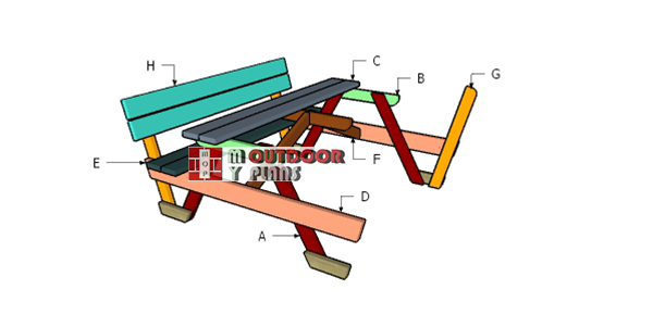How-to-build-a-6-ft-picnic-table-with-backrests