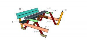 How to build a 6' picnic table with backrests