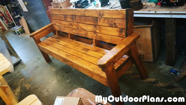 DIY Large Outdoor Bench