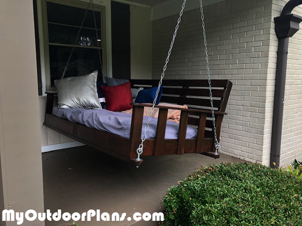 DIY Porch Swing Bed