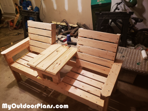 How-to-make-a-double-chair-bench-with-table