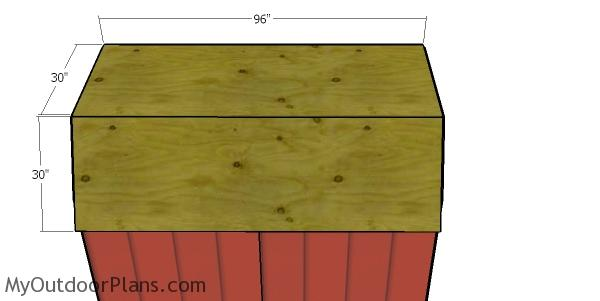 Roof sheets - 6x8 Shed