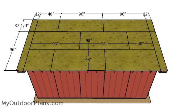 Roof sheets - 8x20 Run In Shed