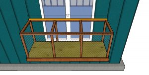 Roof support - window catio