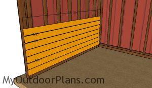Side kickboards - 10x16 run in shed