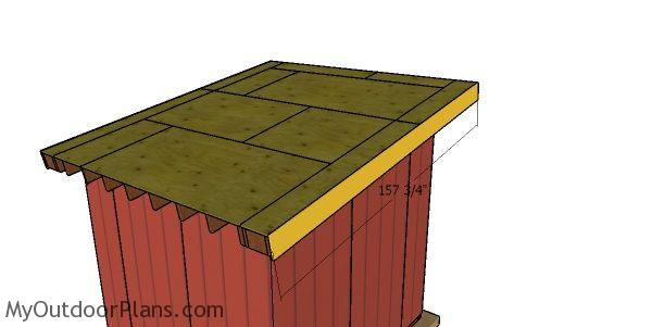 Side roof trims - 10x10 run in shed