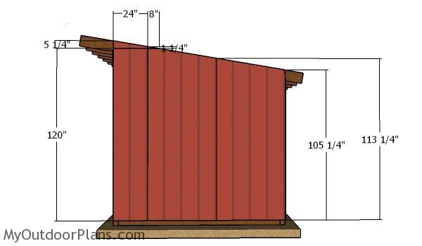 Side siding panels - 10x16 run in shed