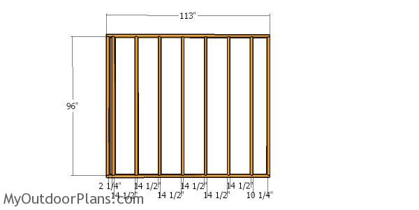 Side wall frame - 10x16 run in shed