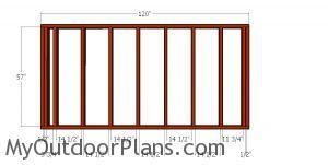 Side wall frames - 6x10 barn shed