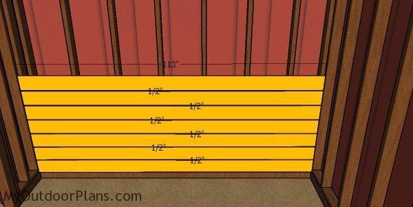 Side wall kickboards - 10x20 run in shed