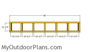 Top back wall frame - 5x8 shed