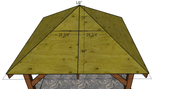 10x10 Gazebo Hip Roof Sheets