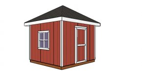 10×10 Shed with a Hip Roof Plans