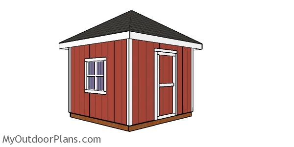 10x10 Shed with a Hip Roof Plans