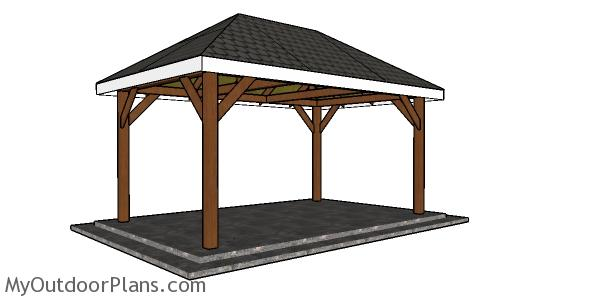 10x16 Gazebo Hip Roof Plans Myoutdoorplans Free